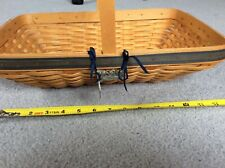 Longaberger 2000 collectors club spring meadows basket and tie on