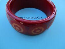 100% Genuine Tiffany & Co zellige bangle - red resin