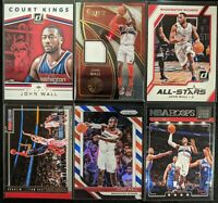 Lot of (6) John Wall, Including Select jersey patch, Prizm RWB & more inserts