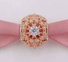 Genuine Pandora 925 ALE Rose Gold Inner Radiance 781370CZ Bracelet Charm  PC30