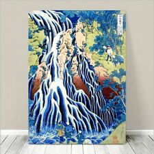"Beautiful Japanese Art ~ CANVAS PRINT 18x12"" ~ Hiroshige Falling Mist Waterfall"