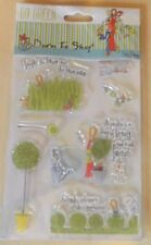 """Docrafts Born To Shop GO GREEN """"Garden Beauty""""  5x7 clear stamps"""