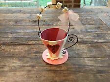 Dept 56 Valentine Decor Paper Mache' Teacup Love Sweet