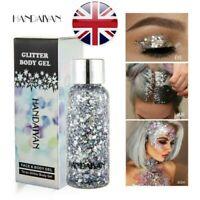 HANDAIYAN GLITTER Shaker Loose Eyeshadow Face Body Hair Nail Eyes Lip Fixing Gel