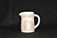 Wedgewood Miniature Pitcher  Queens Ware Pink over White