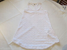 Roxy Juniors Womens M white swim suit cover up dress racer back tank NWT*^