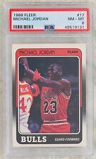 1988 FLEER MICHAEL JORDAN #17 PSA 8 NM-MT CHICAGO BULLS HOF