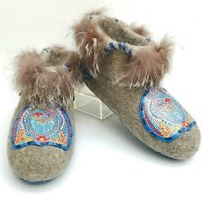 Slippers Valenki? Wool Fur Brand Very Unusual Handmade SHAMAN Custom Russian 14