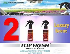 2 Btl Spray Treefrog TOP FRESH Fragrance Mist Air Freshener- Luxury  Scent