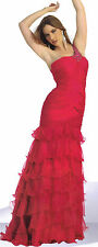 RED PAGEANT DANCE PARTY LONG PROM FORMAL OCCASION DRESS BALL GOWN  SZ  14