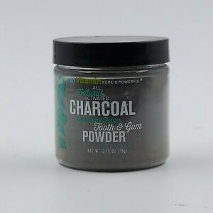 inVitamin All Natural Activated Charcoal Tooth & Gum Power Spearmint Flavor