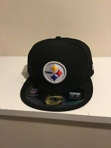 SALE New Era 59Fifty NFL Cap PITTSBURGH STEELERS Basic Team Fitted Hat Black