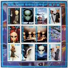 2002 MNH TATARSTAN SCIENCE FICTION STAMPS SHEET ALIENS FLYING SAUCER UFO SCI-FI