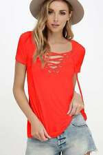 Fashion Womens Loose Pullover T Shirt Short Sleeve Cotton Tops Shirt Lady Blouse