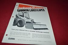 Bobcat Skid Loader Gannon Landscaper Attachment Dealers Brochure DCPA2