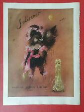 "1947 Lucien LELONG ""Indiscret""- Dessin Lila de NOBILI - Chaussures UNIC J MERCEY"