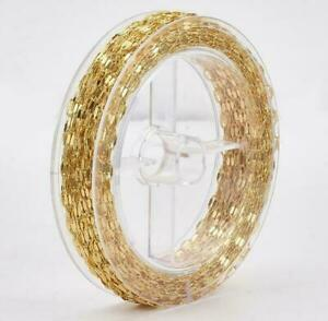 12m Unfinish Chains Copper Cable Chain Bracelet DIY Jewellery Findings Gold