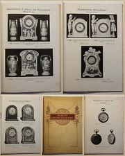 Katalog Album D'Horlogerie um 1930 Uhren Technik Handwerk Geschichte  sf