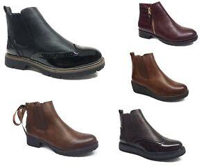 Footwear Sale Women's Chelsea Ankle Boots With Zip Wedged Heel Tan Black Shoes