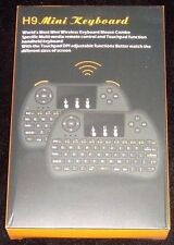 H9 Mini Handheld Wireless Keyboard Air Mouse Combo Remote Control Black NIB