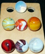CAC Christensen Agate Co. Marble Lot Striped Opaques, Transparent, Moonie, Slag