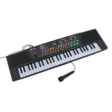 New Listing54-Key Portable Music Electronic Keyboard Piano Organ with Mic & Adapter Black