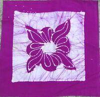 Housse de coussin Violet Batik 2 faces Taie de coussin Coton Inde Fleurs Boho V5