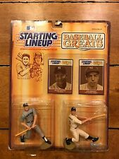 1989 Starting Lineup Mickey Mantle Joe DiMaggio Baseball Greats SLU Figurine