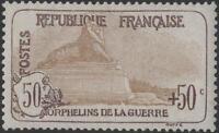 "FRANCE STAMP TIMBRE N° 153 "" ORPHELINS 50c+50c LION DE BELFORT"" NEUF xx TTB K284"