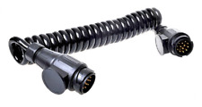 Spiralkabel 3,5M 8 Adern 2x Stecker 13-polig PVC Zwischenkabel Verbindungskabel