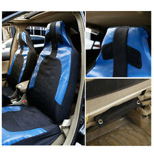 2Pcs/Set Polyester PU Leather Front Car Seat Cover Interior Protector Decoration