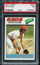 1977 Topps Baseball #450 PETE ROSE Cincinnati Reds PSA 7 NM