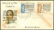 1963 Philippines A TRIBUTE TO PRESIDENT MANUEL ROXAS First Day Cover