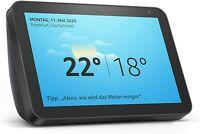 Amazon Echo Show 8 Smart Display Schwarz 8 Zoll HD-Bildschirm Alexa Anthrazit