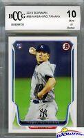 2014 Bowman #88 Masahiro Tanaka ROOKIE BECKETT 10 MINT Yankees 175 Million!
