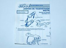 1984 GI JOE ZARTAN & CHAMELEON SPARE BLUEPRINT INSTRUCTIONS - HASBRO NL DUTCH
