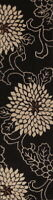 Hand-Tufted Transitional Floral 10 ft Black Runner Oriental WOOL Rug 9' 9 x 2' 6