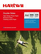500 Sheets A4 220Gsm Double Side High Glossy Photo Paper Inkjet Paper Hartwii AU