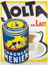 VINTAGE French Chocolate Giclee Art Print - Jolta au lait - Wilquin Poster 26x36