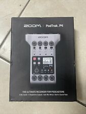 NEW Zoom PodTrak P4 Podcast Recorder Free Shipping
