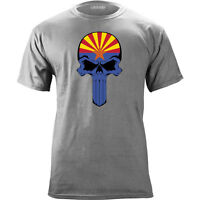 Original Arizona State Flag Skull T-Shirt
