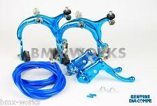 Dia-Compe MX883 - MX121 Bright Blue Brake Set - Old Vintage School BMX