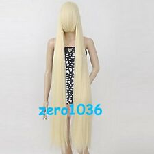 150cm Chobits Chii Beige Long Straight Cosplay Wig