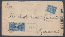 Colombia Sc 343, F24 on 1918 Registered & Censored Special Delivery Cover to US