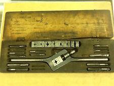 * Vintage Pipe Tap Die Set of 29 Pieces & Tap Die Handle w/ Original Box