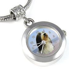 Bearded Collie Silver Charm European Bead Watch EBA109