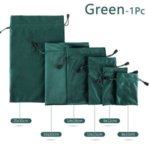 Gift Bag Pouch Packing Drawstring Velvet Jewelry Storage Bag For Wedding Party