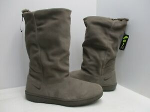 Nike Ironstone Suede Zip Lined Comfort Mid Calf Boots Womens Sz 11 Sty 366449020