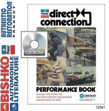 OEM Shop Manual CD Mopar Direct Connection Performance Book Bulletins 1958-1980