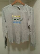 "Old Navy women's XL long sleeved shirt ""I wish I was skiing old navy winter"""